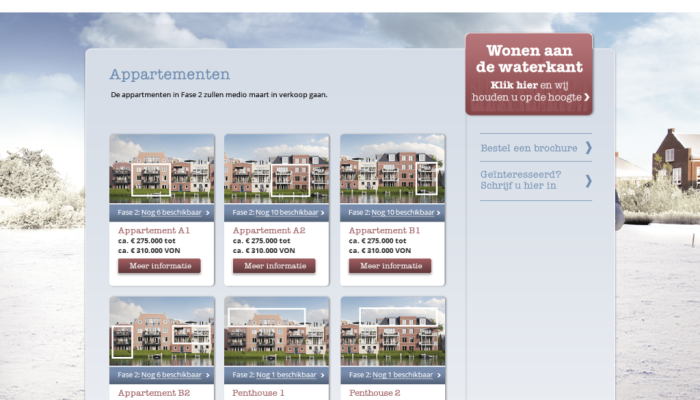 Website De Oevers in het nieuw