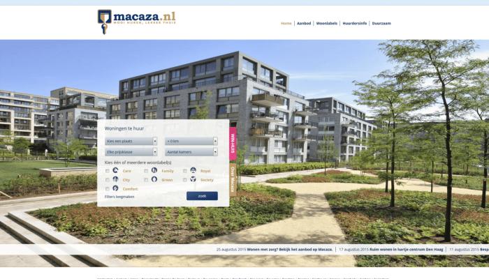 Website Macaza in het nieuw