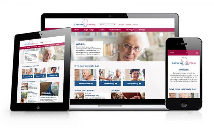 Nieuwe website voor de Catharina Stichting