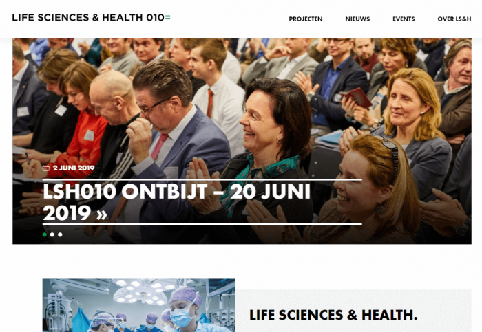 Website Rotterdam Life Science & Health online