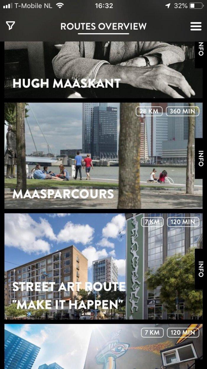 Het Maasparcours staat in de Rotterdam Routes app!