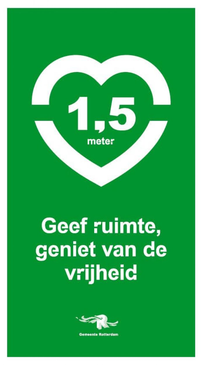 1,5 meter communicatie Gemeente Rotterdam