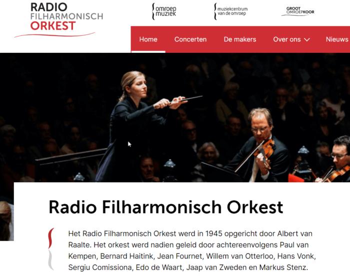 Buro voor de Boeg ontwikkelt sites Radio Filharmonisch Orkest